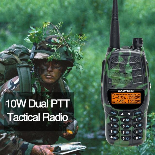 Baofeng UV X9 Plus Tactische Radio CS Tri Power 10 W/4 W/1 W Krachtige 2 PTT VHF UHF Dual Band 10 KM Lange Afstand Radio Walkie Talkie