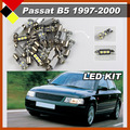 Auto LED No Error SMD Car Interior Lamps Kit Package Lights White Plug & Play 15Pcs Fit For Volkswagen PASSAT B5 1997-2000