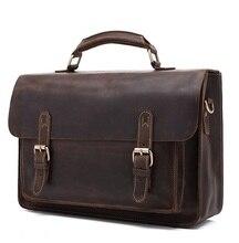 European and American popular restoring ancient crazy horse leather briefcase shoulder bag handbag business laptop bag # 211