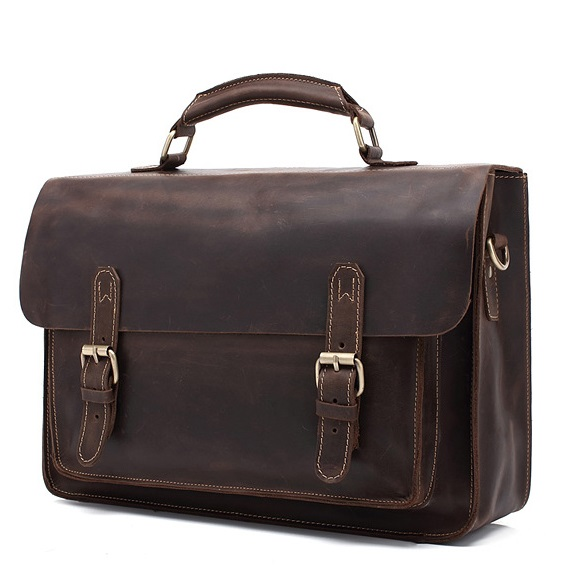 European and American popular restoring ancient crazy horse leather briefcase shoulder bag handbag business laptop bag # 211 fashion men s single shoulder bag leisure portable oblique satchel tide restoring ancient ways crazy horse leather laptop pu