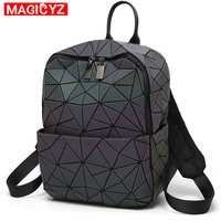 MAGICYZ geometri ctriangle Hologram Bags Luminous female backpack sac a dos 2019 women backpack Mochilas holographic Bagpack