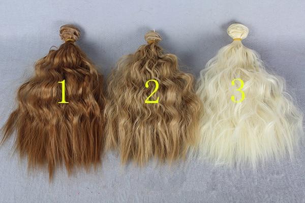 5Pcs / lot NEW Corn Curly Wavy Doll DIY Parykker For 1/3 1/4 1/6 BJD - Dukker og tilbehør - Bilde 3