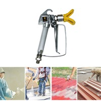 3600PSI High Pressure Airless Latex Paint Spray Gun Spraying Equipment With Nozzle Tip Straight Shank PSI Tool Paint Spray Gun