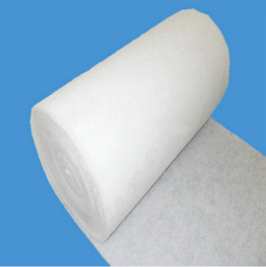 spray booth type air filter roll/polyester roll filter media