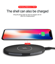 YILIZOMANA QI Wireless Charger Pad For iPhone X 8/8 Plus Samsung Galaxy S8/S9  Note 8 5V/1A Phone