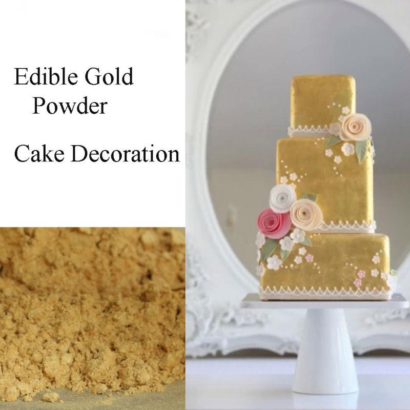 US $8.1 19% OFF|10g Golden sugar natural pigment food coloring pearlizing  coating Wilton fondant cake decorating tools paste food baking macaron-in  ...