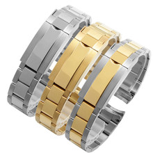 Fit Submariner 116610-LV-97200 Zilver Goud Metalen Armband Rvs Polsband Stalen Gesp Band Voor Horloge(China)