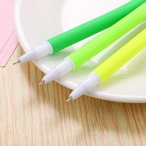 Image 4 - 100 Pcs Creative Small Fresh Simulation Grass Gel Pen Cute Student Soft Quality Office Signature Pen Kawaii School Supplies