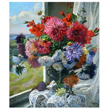 DIY Diamond Painting bunch Flower scene oil painting Embroidery flower Cross Stitch fulll round Home Decor