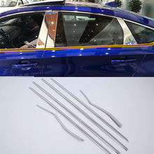 цены AUTO ACCESSORIES stainless steel front window trims up 6pcs Car Styling accessories For HONDA ACCORD 2018
