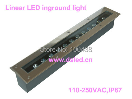 Free shipping ! CE,IP67,High power Linear 12W LED underground light,LED uplight,DS-11D-L600100-12W,2-Year warranty,110V/220VAC free shipping by dhl high power 9w led projector light outdoor led spotlight 110v 250vac ds 06 20 9w 2 year warranty