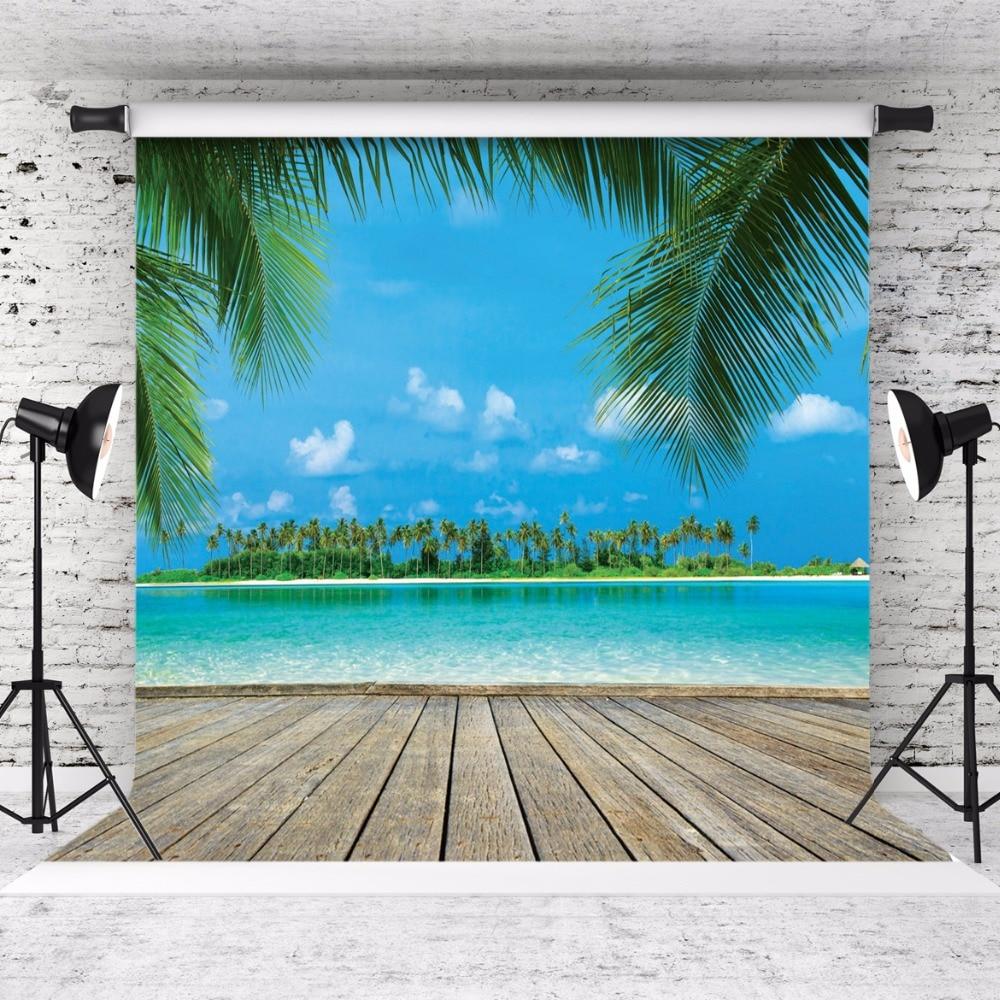 SJOLOON piso de la playa y cielo azul fotografía fondo niños amante - Cámara y foto