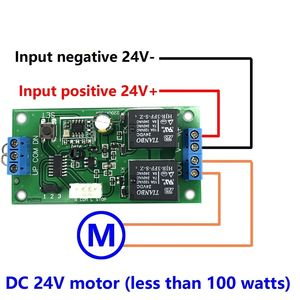 Image 2 - Drahtlose fernbedienung schalter 433 mhz rf sender empfänger 18 v zu 24 v motor Vorwärts + Umge Stopp lenkung controller modul