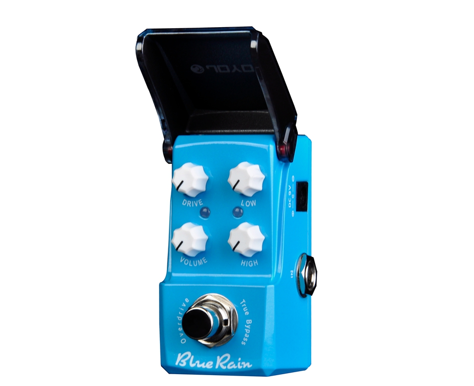 JOYO Blue Rain Overdrive Mini Electric Guitar Effect Pedal with Knob Guard True Bypass JF-311 joyo clean glass amp simulator electric guitar effect pedal true bypass jf 307 with free 3m cable