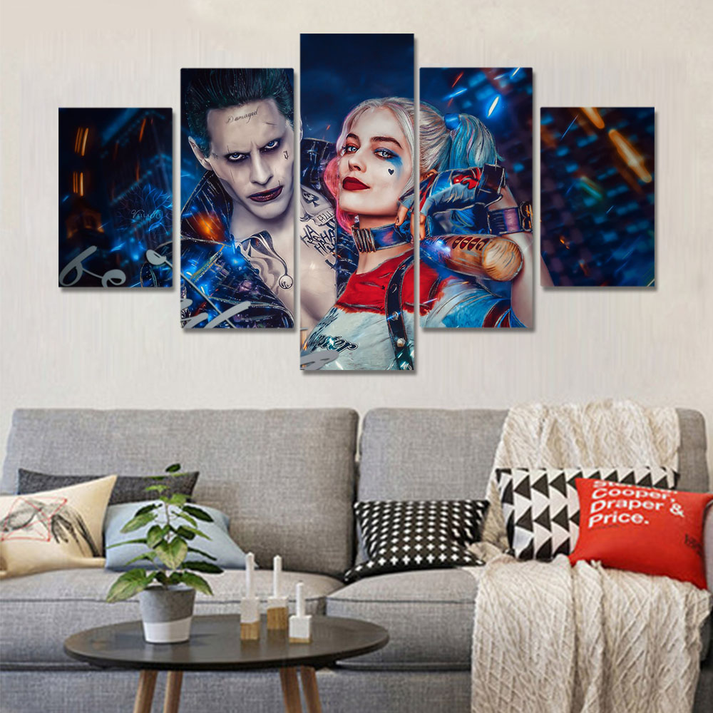 Unframed HD Canvas Prints Movie Poster Clown Female Prints Wall Pictures For Living Room Wall Art Decoration Drop Shipping