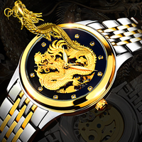 Men Watches Fashion Dragon TEVISE Brand Watch Automatic Mechanical Watches Steel Clock Mens Wristwatches Relogio Masculino