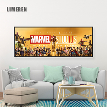 Marvel Canvas Painting Poster The First Ten Years Anniversary and Prints Golden Movie Memory Wall Picture Fans Home Decor