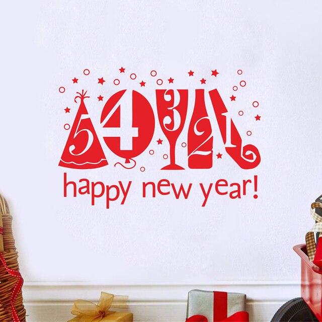 С наступающим Новым Годом Шары Виниловые Наклейки Главная Окно Стены Искусства Наклейки Новый Год Наклейки Творческий Украшения