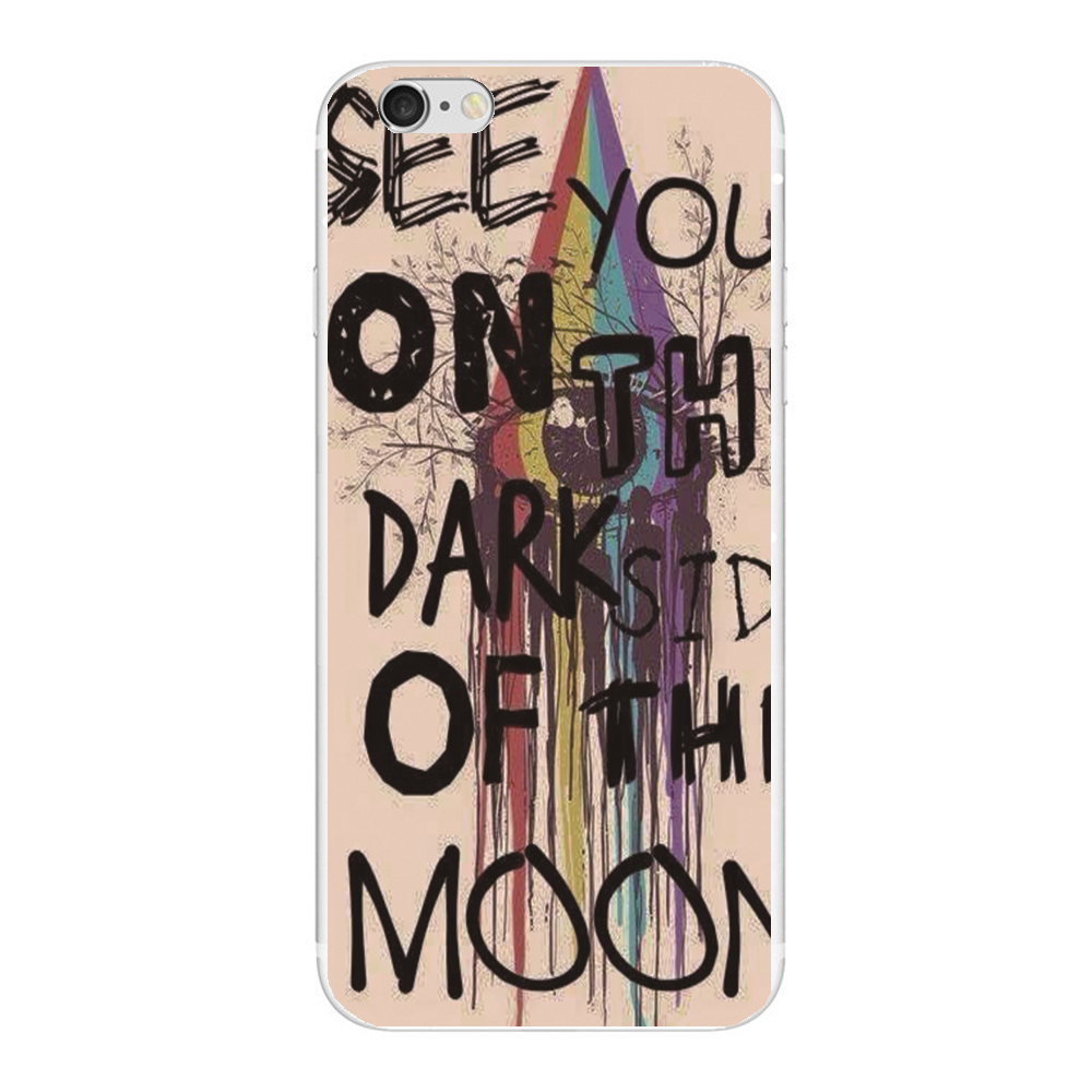 See you on the dark side of the moon Pink Floyd poster phone case cover For Apple iphone 5S 5C 5 4S 6 6S 7 plus 6plus 7plus