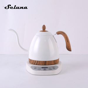 600ml Electric Coffee Drip Kettle Variable Temperature Gooseneck Pour Over Drip Pot Stainless Steel V60 Coffee Maker LCD Display
