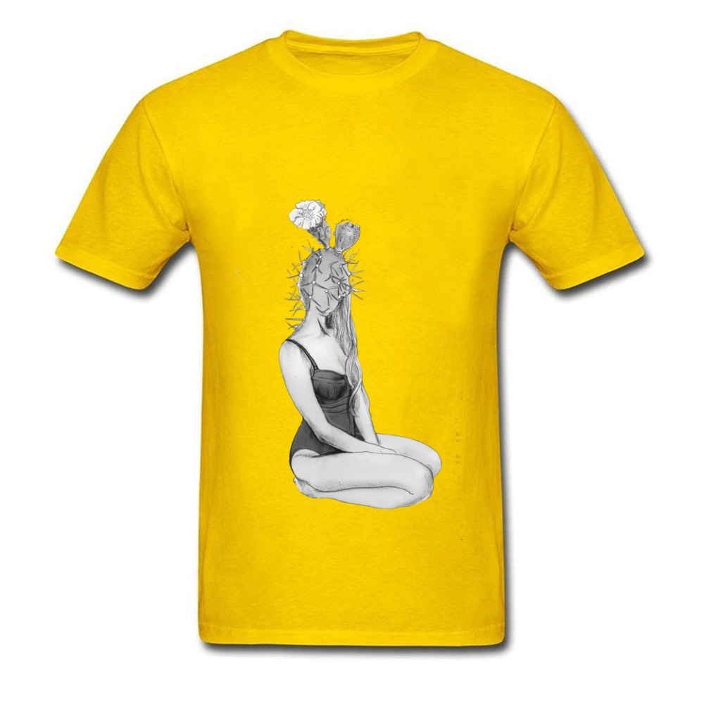 Cactus Love T-Shirts Men Pin Up Sexy Girl T-Shirts Mens Newest Fashion Sex T-shirt Loose Pure Cotton Summer Clothes
