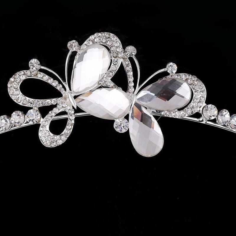 New Wedding Jewellery Set Austrian Crystal Bridal Jewelry Sets For Women Long Tassel Statement NecklaceEarrings Set Crown