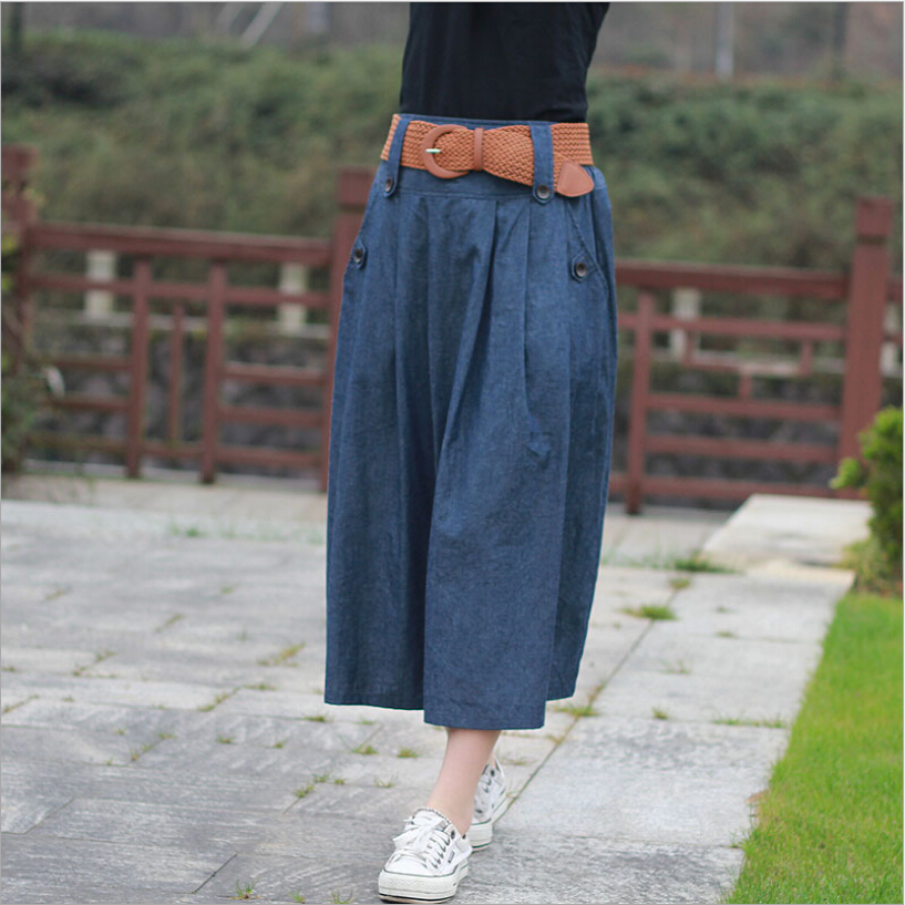 Popular Long Jean Skirts Women-Buy Cheap Long Jean Skirts Women ...