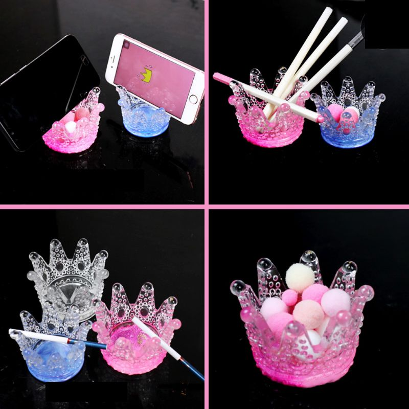 3D Crown Ashtray Storage Box DIY Phone Holder Silicone Mold Resin Casting Tools