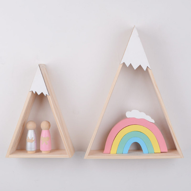Ins Pattern Northern Europe Wind Woodiness The Capped Mountains Triangle Carrier Children House Home Furnishing Decoration
