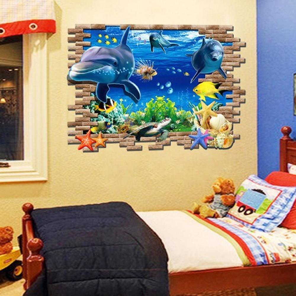 Perfect Whales And Waves Wall Decor Ornament - Wall Painting Ideas ...