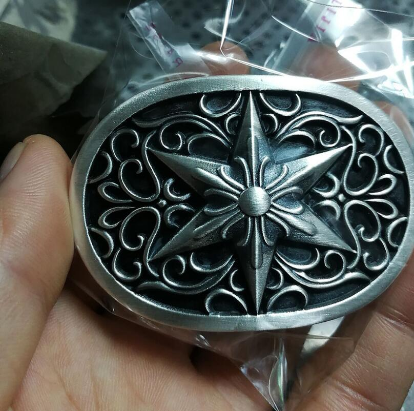 Hexagonal Star Belt Buckle 999 Silver Handmade Jewelry
