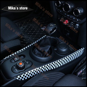 Image 4 - ABS for BMW Mini Cooper F60 F 60 Countrymen Gear Panel Automatic Gearbox Decoration Covers Sticker Car Styling Decoration Panel