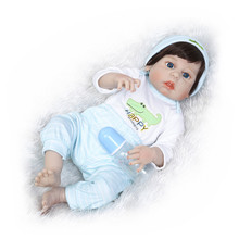 bebe boy reborn Babies Realistic Silicone Reborn Dolls 55 cm,New Arrival Lifelike Baby Reborn Toys for Kid's Christmas  Gift npkcollection reborn baby alive lovely premie bebe new born dolls realistic baby playing toys for kids birthday christmas gift