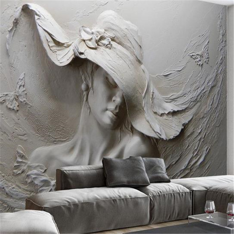 3D Stereoscopic Wallpapers Custom Photo Murals Embossed Gray Oil Painting Modern Walls Papers for Living Room Home Decor Flower custom photo size wallpapers 3d murals for living room tv home decor walls papers nature landscape painting non woven wallpapers