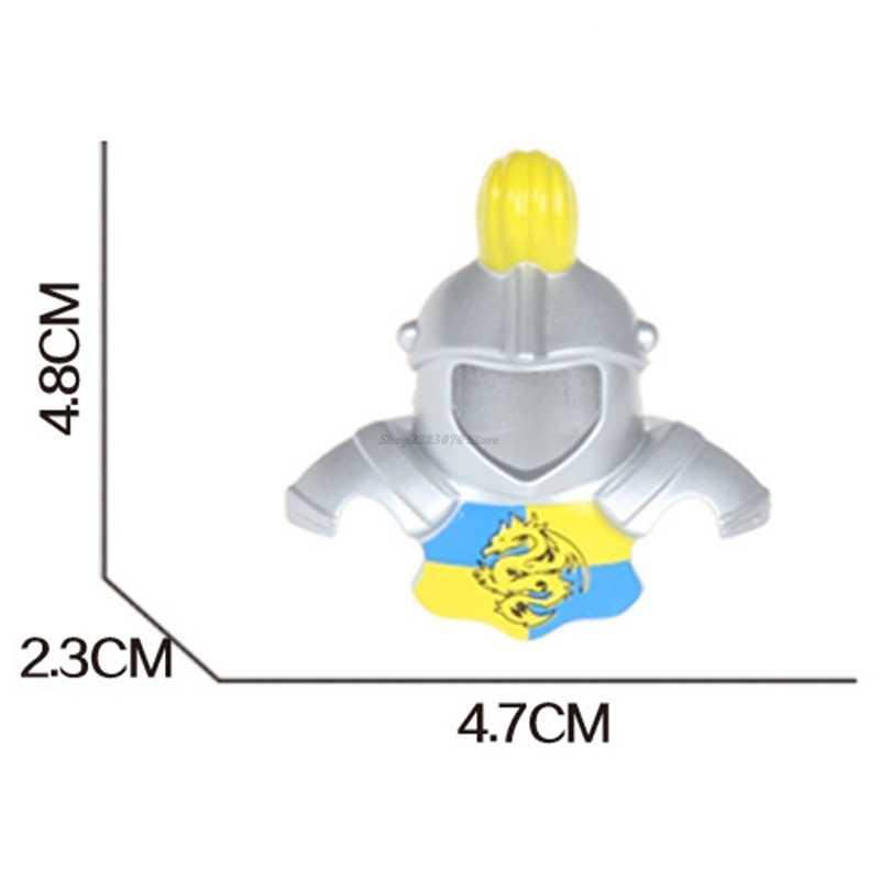 Duplo рыцарь напечатал Броня оружие-щит Корона царь-Дракон Шляпа Краш шлем строительный блок кирпич дети игрушки подарки DIY
