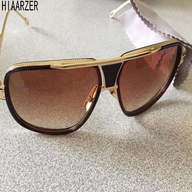 319f25af8cc 2018 Grandmaster Five Sunglasses Women Men 18K Gold Sunglass Brand Designer Mach  One Vintage Oversized Sun Glasses oculos de sol
