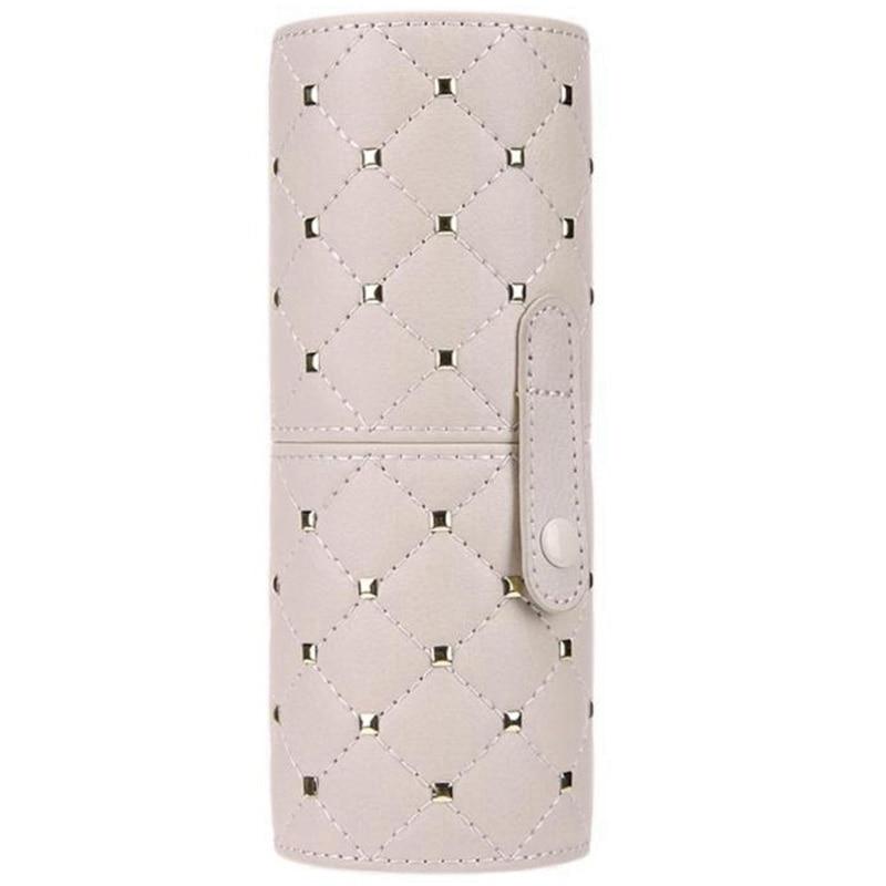 Fashion Makeup Brushes Holder Case Pu Leather Travel Pen Holder Storage Cosmetic Brush Bag Brushes Organizer Makeup Tools