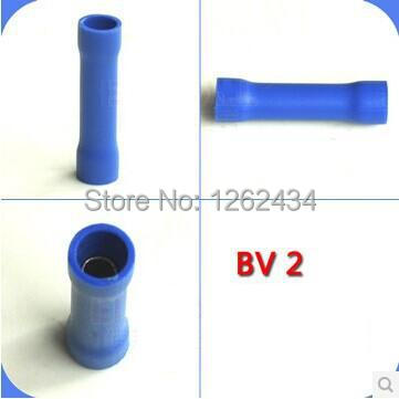 BV2 Tubular insulating joints wire connector head cold press terminal