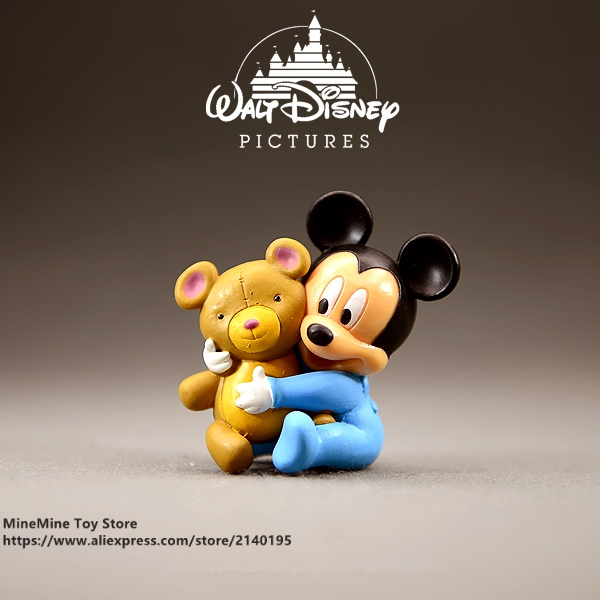 Disney Mickey Mouse baby 5cm Action Figure Posture Anime Decoration ...