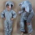 Дети пижама комикс животное слоны косплей-костюмы пижамы дети Onesies пижама год
