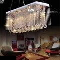 Горячая длинная прямоугольная хрустальная Подвесная лампа  хрустальная люстра  Потолочная Подвесная лампа для столовой спальни