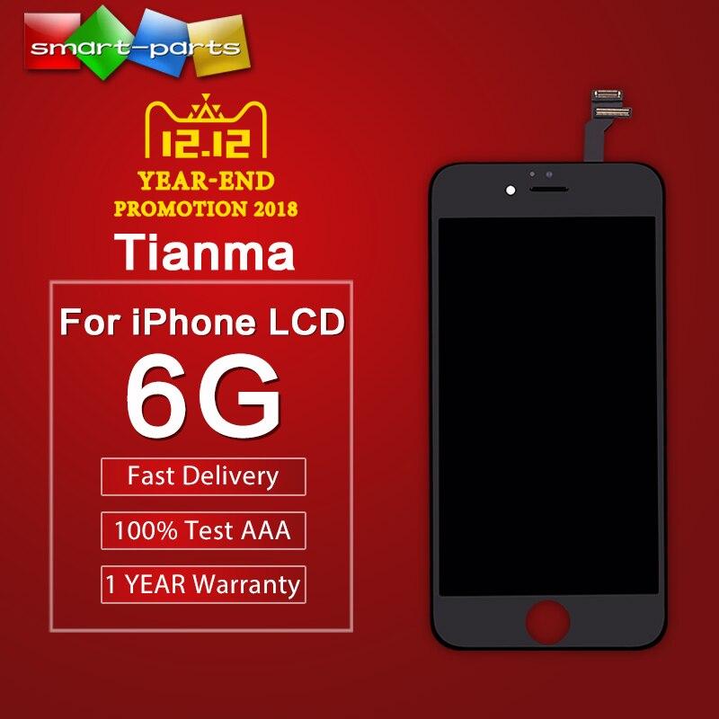 Premium Tianma pantalla LCD para el iPhone 6 LCD pantalla táctil digitalizador Asamblea con la prensa en frío marco mejor brillo Color DHL