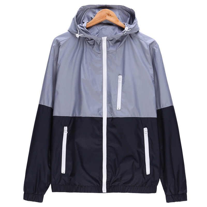 2019 новые осенние мужские куртки-бомберы контрастные цвета легкие куртки мужские повседневные приталенные куртки с воротником-стойкой мужские ветровки