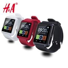 Notificador de conectividad bluetooth reloj u8 reloj inteligente reloj de sincronización para apple iphone android teléfono smartwatch relojes
