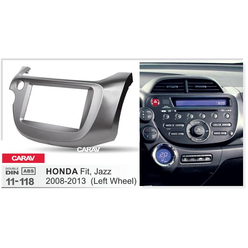 radio fascia for honda fit jazz 2008 2013 left wheel. Black Bedroom Furniture Sets. Home Design Ideas