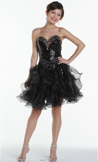 free shipping 2016 dinner   dress   new style formal ball gowns crystal Cocktail sexy black organza Removable skirt   prom     Dresses