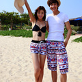 Quick-drying Sunshine beach deck chair Boardshorts women swimsuit hot sexy Couple Women Board Shorts Slim Pleasantly cool brand