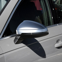 For Audi 2017 A4 A5 B9 allroad Quattro S4 S5 Side Wing Mirror Caps fit Audi Mirror Covers Silver Matte Chrome 2018