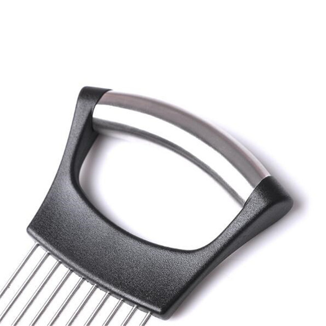 CTREE Stainless Steel Onion Slicer Cut Onion Holder Fork Meat Needle Vegetable Slicer Cutting Holder Fruit Cutter Kitchen C159