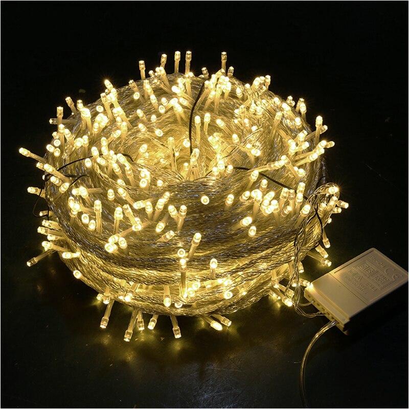 10m 20m 30m 50m 100m luzes de fadas LEVOU luzes da corda icicle Natal guirlandas casa ao ar livre casamento/festa/Festival de Ano Novo
